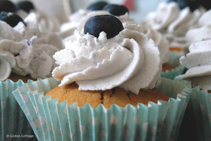 Bosbessen cupcakes