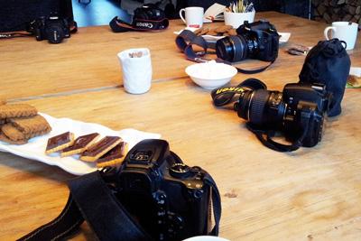 Camera's liggen allemaal op tafel