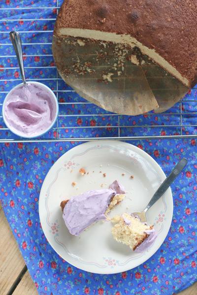 Cake met soja slagroom