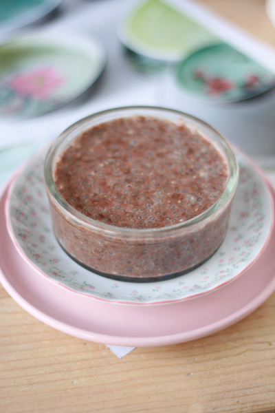 chocolade chia pudding
