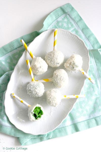 Pandan kokos cakepops
