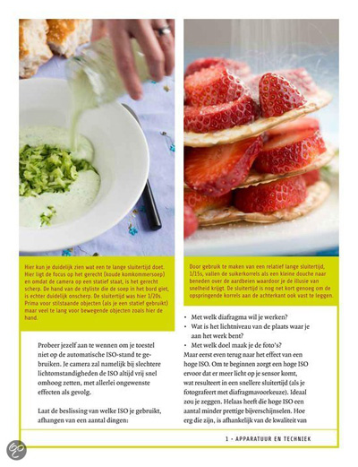 Binnenkant boek over food fotografie van Simone van den Berg