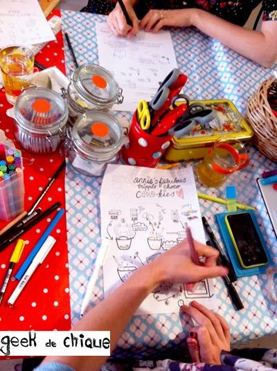 Workshop recepten illustreren met geekdechique