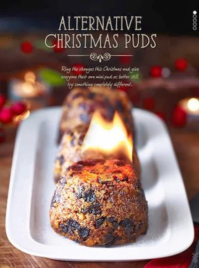 Geflambeerde kerstpudding