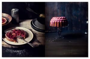Cake met bloedsinaasappel icing