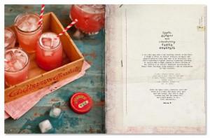 Bladzijde uit het kookboek van Wat Katie eet - gemberbier met cranberry wodka