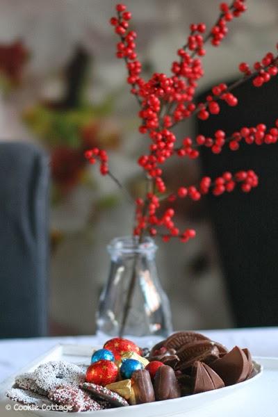 Schaaltje met kerstchocolade