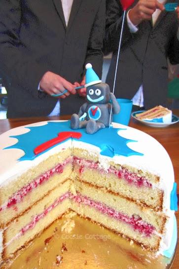 Robot verjaardagscake