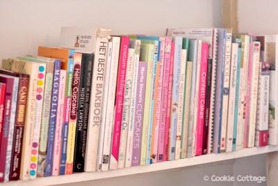 Alle bakboeken van TaartjeTaart op een rij