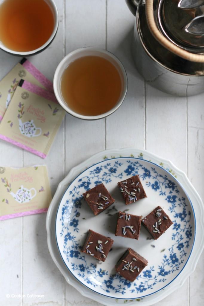 English tea shop en chocolade lavendel fudge
