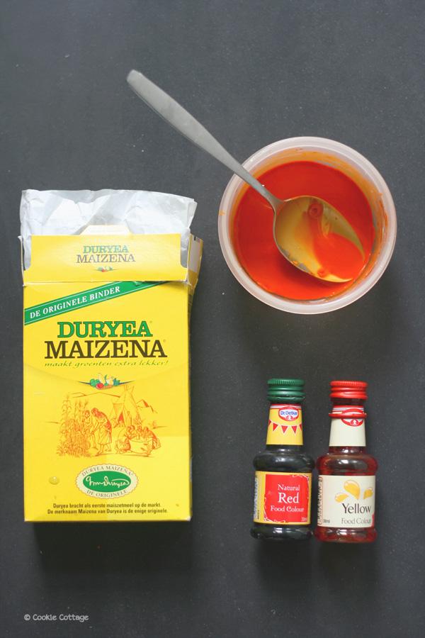 Oranje kleurstof maken