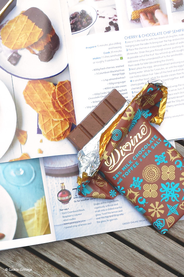 Divine chocolate milk chocolate with toffee & sea salt
