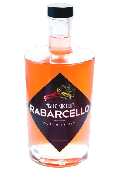 Rabarcello rabarberlikeur van mister kitchen's