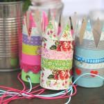 (DIY) Zelgemaakte kroontjes van washi-tape