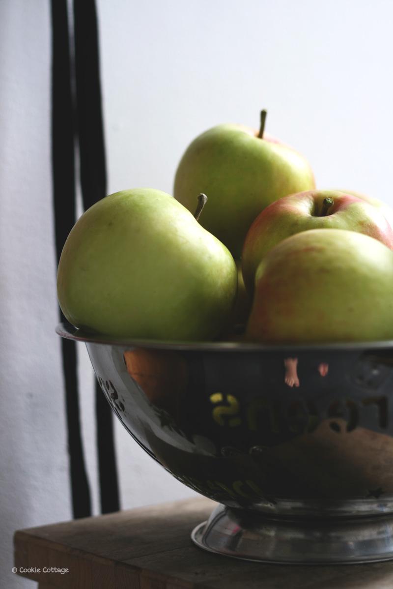 Appels voor het maken van appeltaartvulling