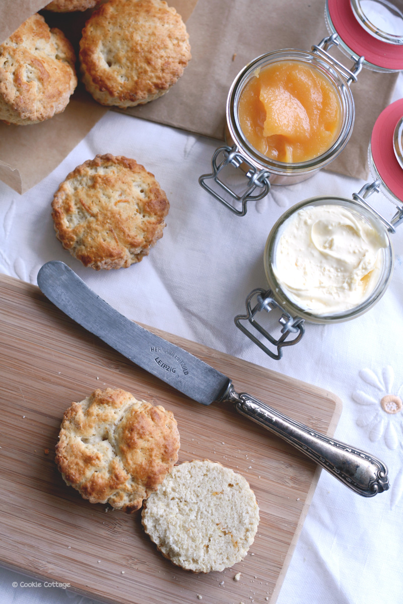 Recept voor Engelse scones met grapefruit en clotted cream