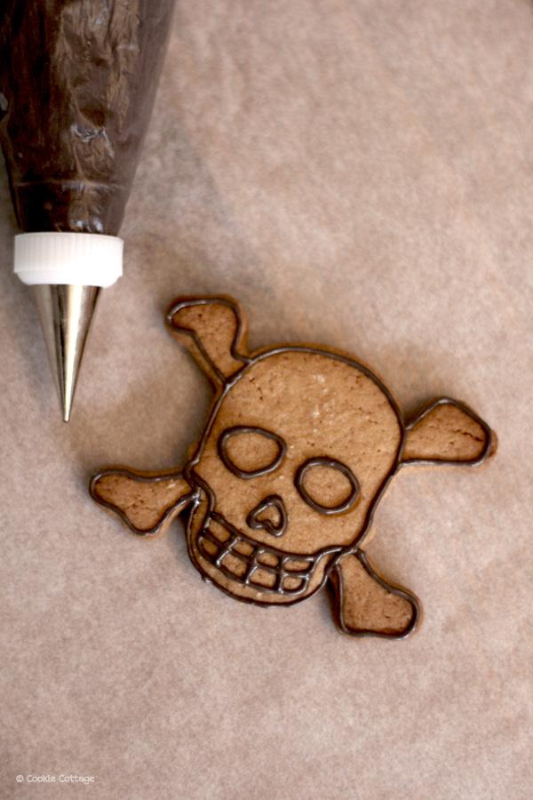 Doodshoofd koekje
