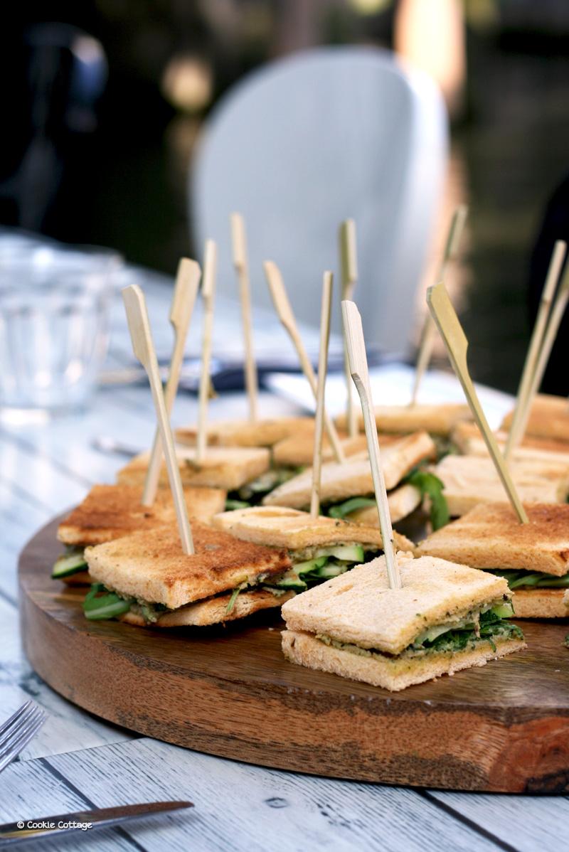 Sandwiches met gegrilde groentes