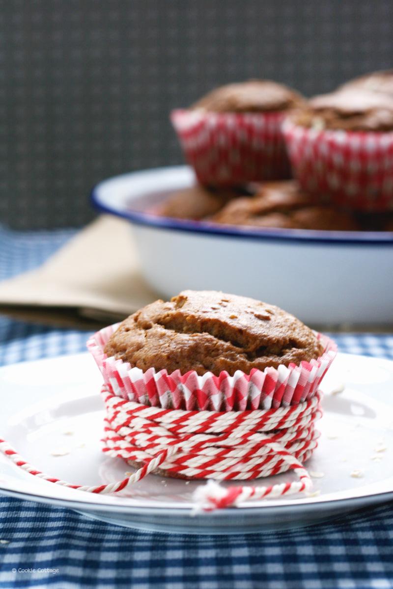 Muffins met havermout en dadels