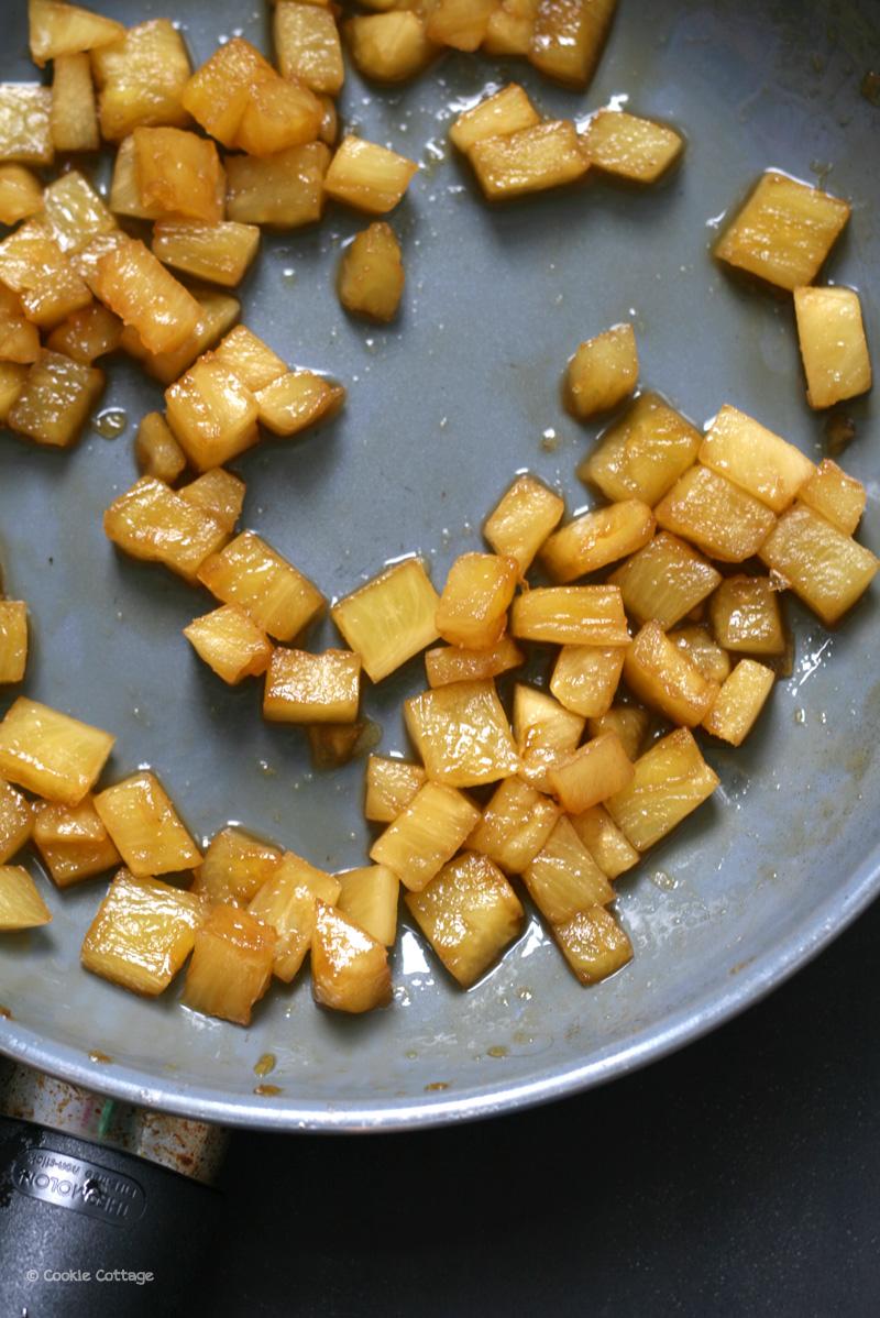 Gekarameliseerde ananas