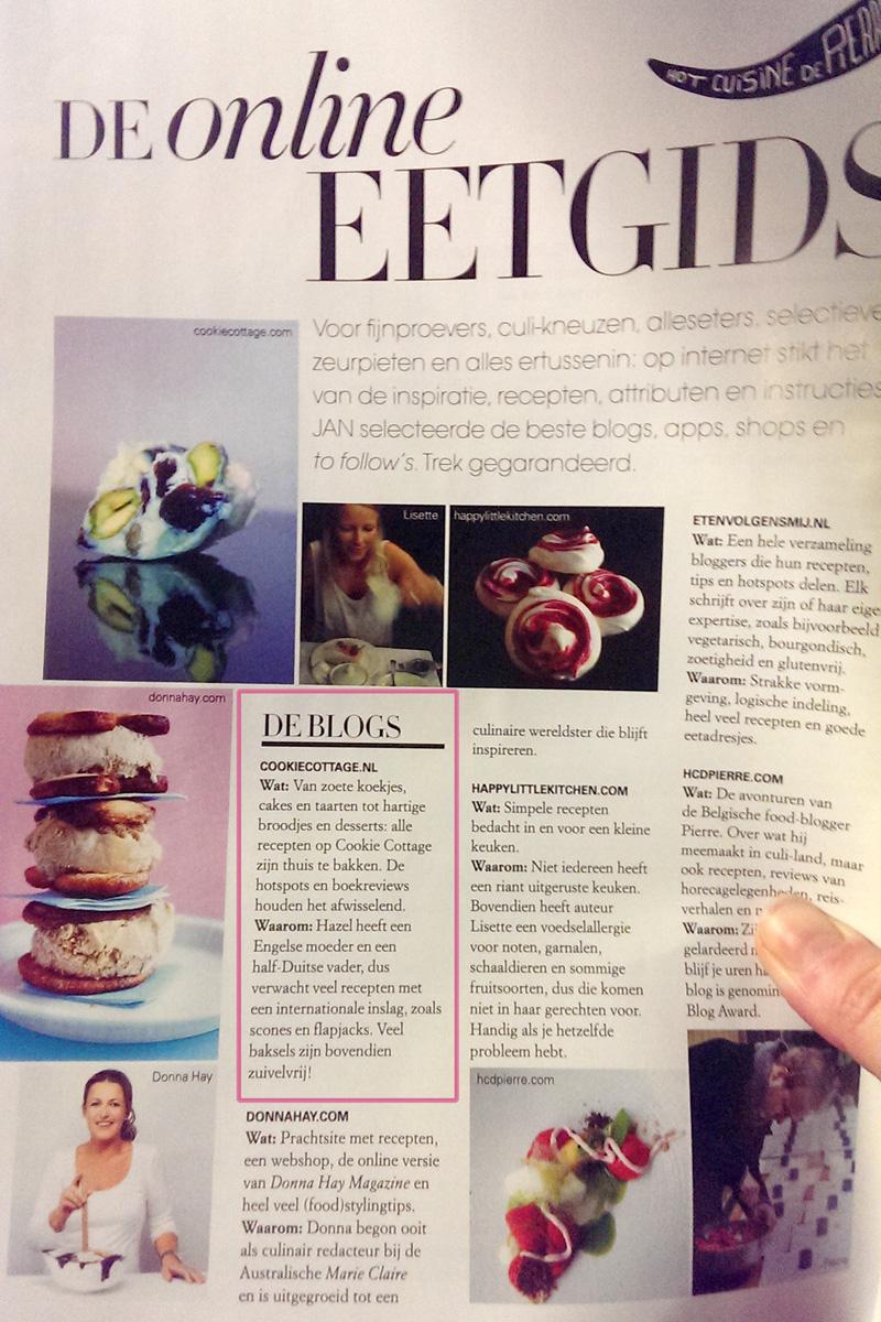 Cookie Cottage in Jan Magazine