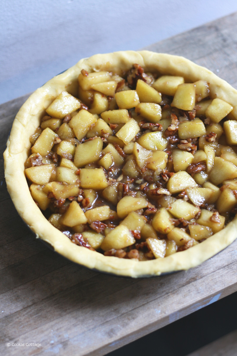 appeltaart met pecannoten en anijs