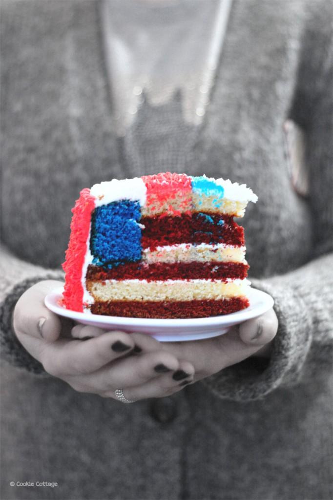 captain america cake - handmodel: Culinessa