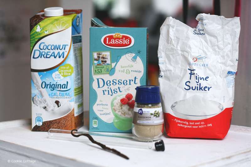 Ingrediënten rijstpudding