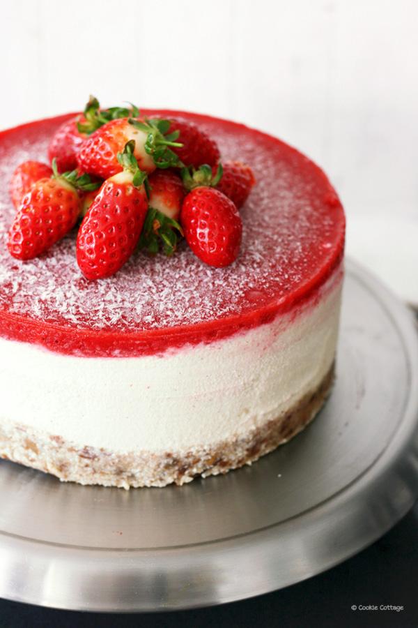 veganistische cheesecake