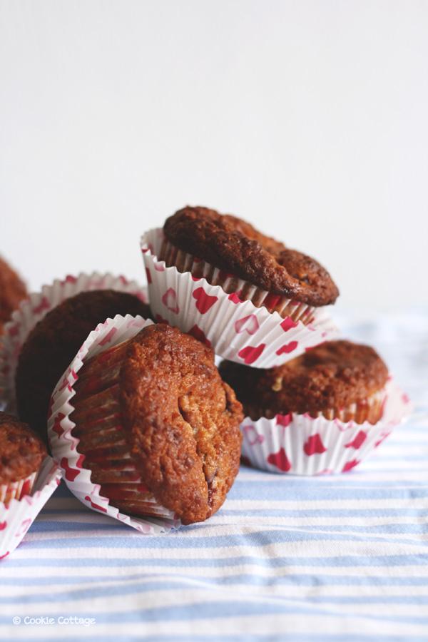 Tarwevrije muffins met kersen
