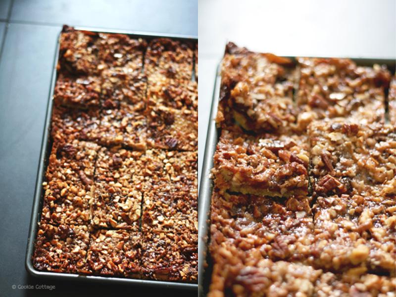 recept voor plaatkoek met noten. en chocolade