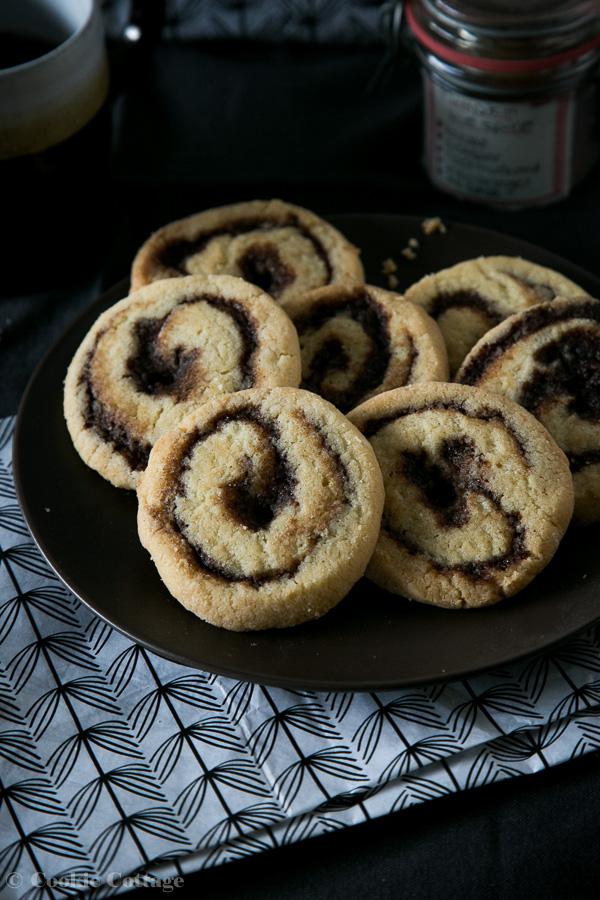 swirl cookies maken met pumpkin pie spice mix
